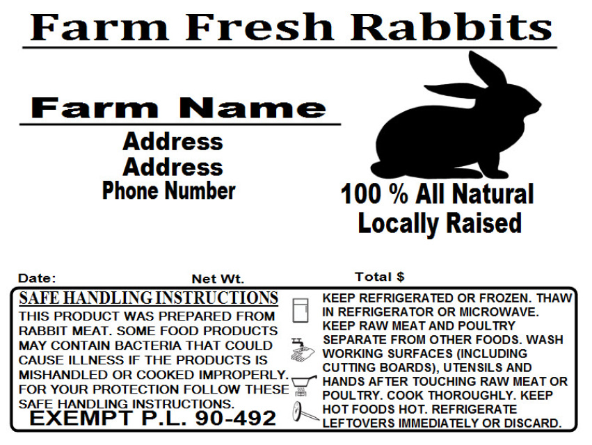 Custom Poultry Freezer Labels