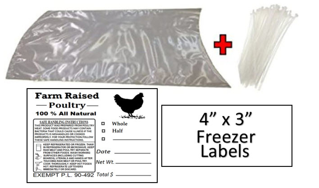 CLEARANCE POULTRY SHRINK BAGS HEAT 16x28 TURKEY 100 pk